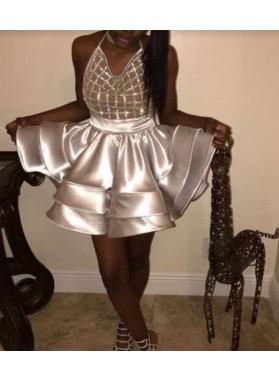 2019 Cheap Halter Mini Short Prom Dresses / Homecoming Dresses