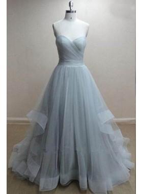 Floor-Length/Long Sweetheart A-Line/Princess Tulle Prom Dresses