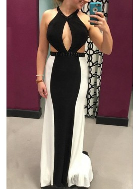 Halter Column/Sheath Prom Dresses
