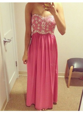 Princess/A-Line Chiffon Water Melon Prom Dresses