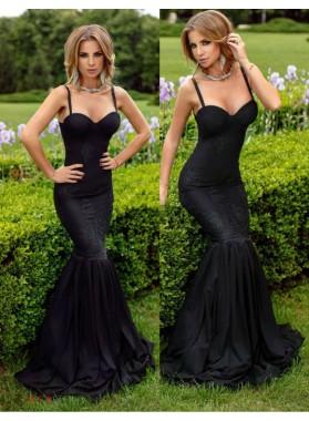 2019 Sexy Mermaid/Trumpet Sweetheart Black Prom Dresses