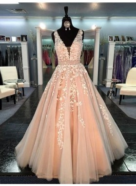 New Princess/A-Line Champagne Prom Dresses Patterns