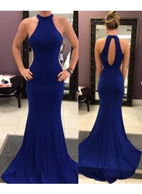 Alluring Mermaid/Trumpet Royal Blue Prom Dresses