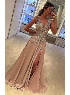 Princess/A-Line Champagne Sweetheart Elastic Satin Prom Dresses