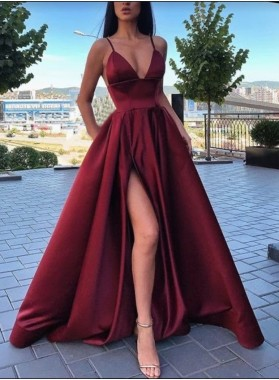 2021 New Designer V-neck A-line Prom Dresses