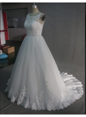 A-line Lace Wedding Dresses
