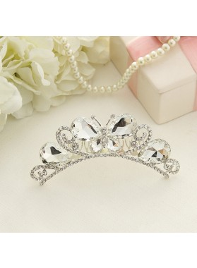 New Arrival Girl's Butterfly Diamonds Crown First Communion Crown Cheap Girl's Headwear