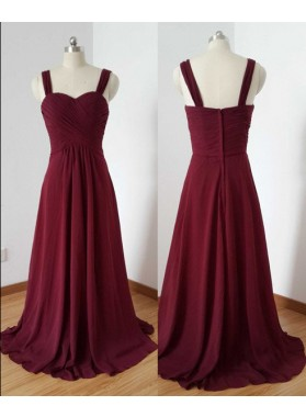 2018 Gorgeous Red Prom Dresses Straps Floor-Length/Long A-Line/Princess