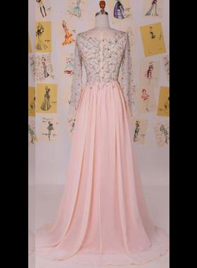Floor-Length/Long A-Line/Princess Chiffon Prom Dresses