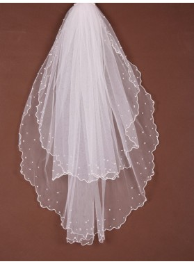 2 Layer Waltz With Beading Wedding Veil