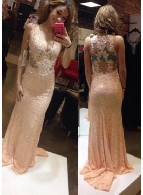 Appliques Floor-Length/Long Column/Sheath Satin Prom Dresses