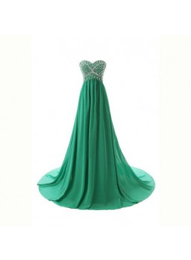 Prom Dresses Floor-Length/Long A-Line/Princess Sweetheart Chiffon