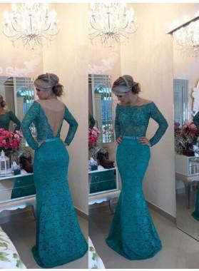 Prom Dresses Mermaid/Trumpet Bateau Sash Lace