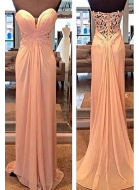 Cheap Prom Dresses Column/Sheath Sweetheart Chiffon