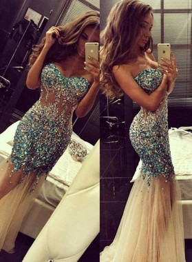 Cheap Prom Dresses Mermaid/Trumpet Sweetheart Tulle