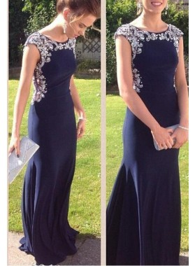 Column/Sheath Scoop Natural Zipper Floor-Length/Long Chiffon Prom Dresses