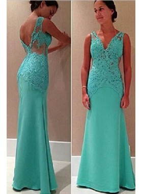 Lace Straps Mermaid/Trumpet Satin Prom Dresses