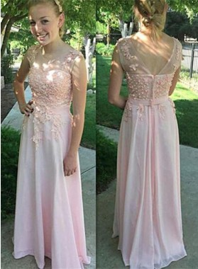 Column/Sheath Scoop Sleeveless Natural Zipper Floor-Length/Long Chiffon Prom Dresses