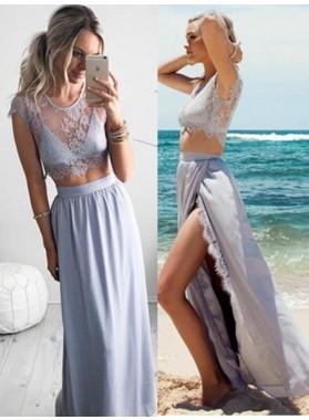A-Line/Princess Short Sleeves Zipper Floor-Length/Long Stretch Satin Prom Dresses