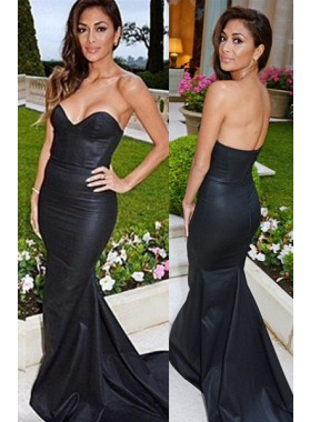 2019 Junoesque Black Sweetheart Sweep Train Mermaid/Trumpet Prom Dresses