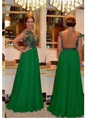 Column/Sheath Scoop Sleeveless Natural Backless Floor-Length/Long Lace Prom Dresses