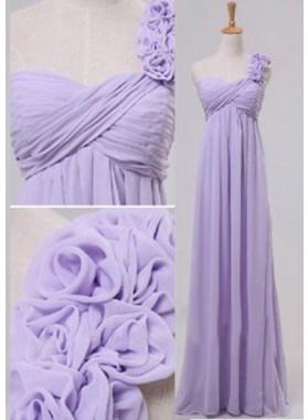Floor-Length/Long Column/Sheath Flowers Sweetheart Chiffon Prom Dresses