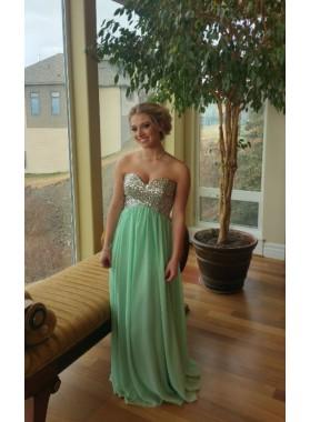 2019 Cheap Chiffon Sweetheart Princess/A-Line Mint Green Prom Dresses