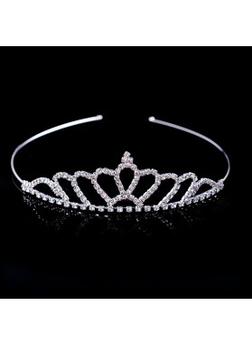 Lovely Girl's Shiny Diamonds Princess Crown First Communion Crown Cheap Girl's Headwear