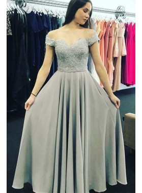 bc0a195ea595 The Best For Chiffon Winter Silver Prom Dresses 2019 - LadyPromDress.com