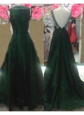 Prom Dresses Sleeveless Beading A-Line/Princess Chiffon