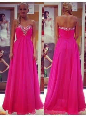 Prom Dresses Sweetheart Beading Empire Waist A-Line/Princess Chiffon