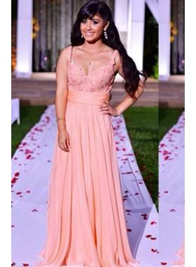 Prom Dresses Straps Lace Chiffon