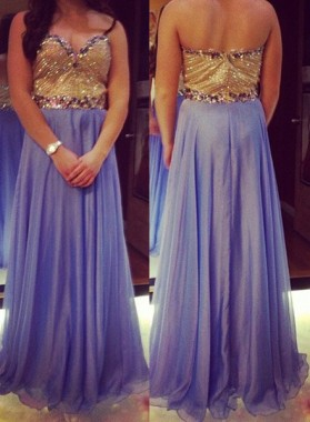Prom Dresses Sweetheart Beading Sleeveless A-Line/Princess Chiffon
