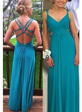 Prom Dresses Straps Backless Chiffon
