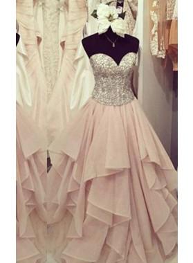 Sweetheart Beading Layers A-Line/Princess Chiffon Prom Dresses