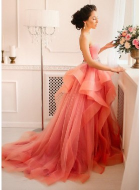Sweetheart Natural Layers A-Line/Princess Tulle Prom Dresses