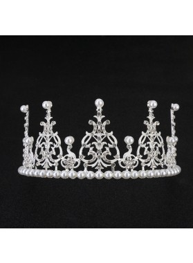Lovely Girl's Shiny Princess Crown First Communion Crown Cheap Girl's Headwear Birthday Crown