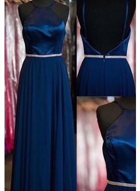LadyPromDress 2018 Blue Prom Dresses Straps A-Line/Princess Taffeta