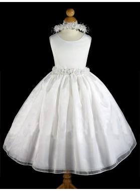 2019 Absorbing Applique Sleeveless Cute A-Line First Communion Dresses / Flower Girl Dresses