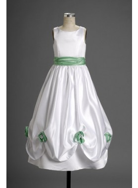 2019 Winsome White Taffeta Flower Floor Length Actual First Communion Dresses