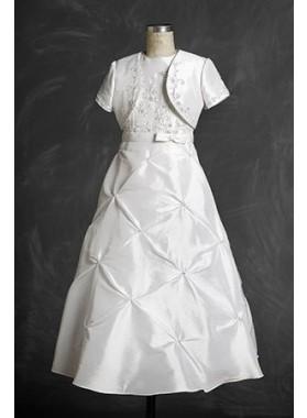 Intriguing White Flower Girl Dress Taffeta Actual First Communion Dresses