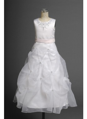 Enticing 2020 New Style Round Applique A-line Actual First Communion Dresses