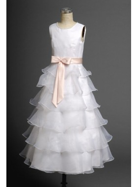 2020 Sassy Layered Organza Hot Sale Actual First Communion Dresses