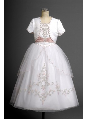 2019 Princess Lovely Applique Ball Gown Design Hot Sale Long Communion Dress