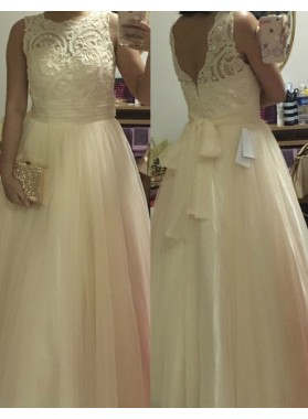 Lace Ball Gown Tulle Prom Dresses