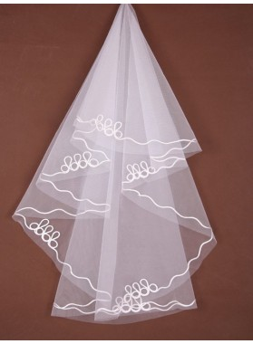 Elegant 1 Layer Elbow Wedding Veil