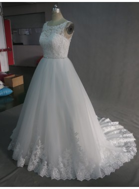 2021 A Line Lace Wedding Dresses