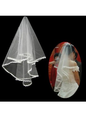 Great Wedding Veil With Embroidery