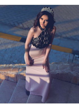 2019 Blushing Pink Elastic Satin Prom Dresses