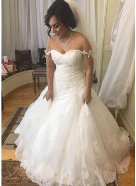 2020 A Line Sweetheart With Straps Lace Wedding Dresses